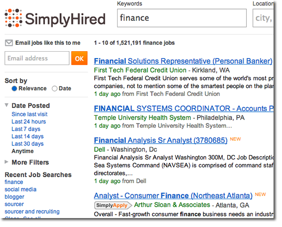 Simplyhired Gets A New Logo Job Board Consulting Job