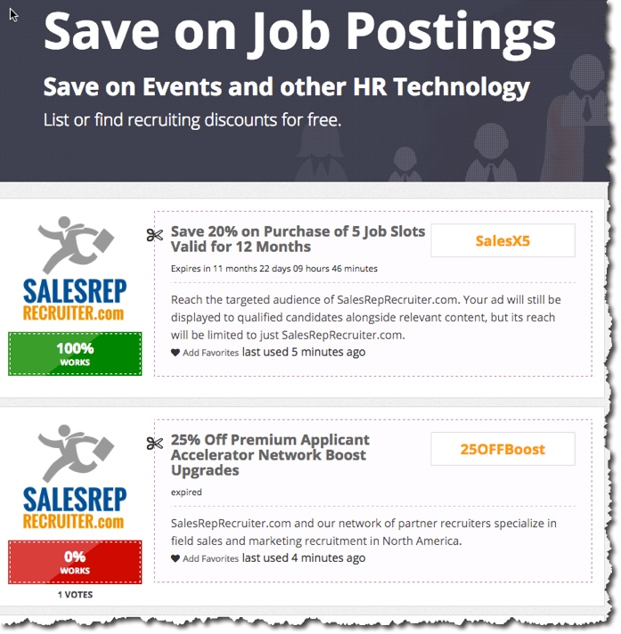 recruiter discounts