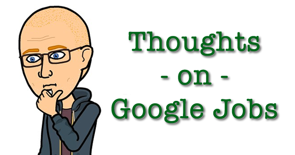 commentary on google jobs by Chris Russell