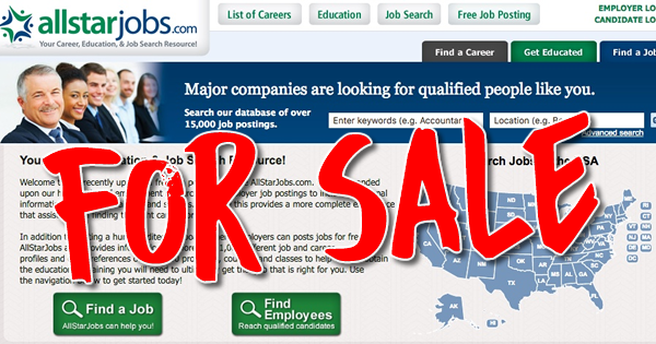 AllStarJobs job board for sale