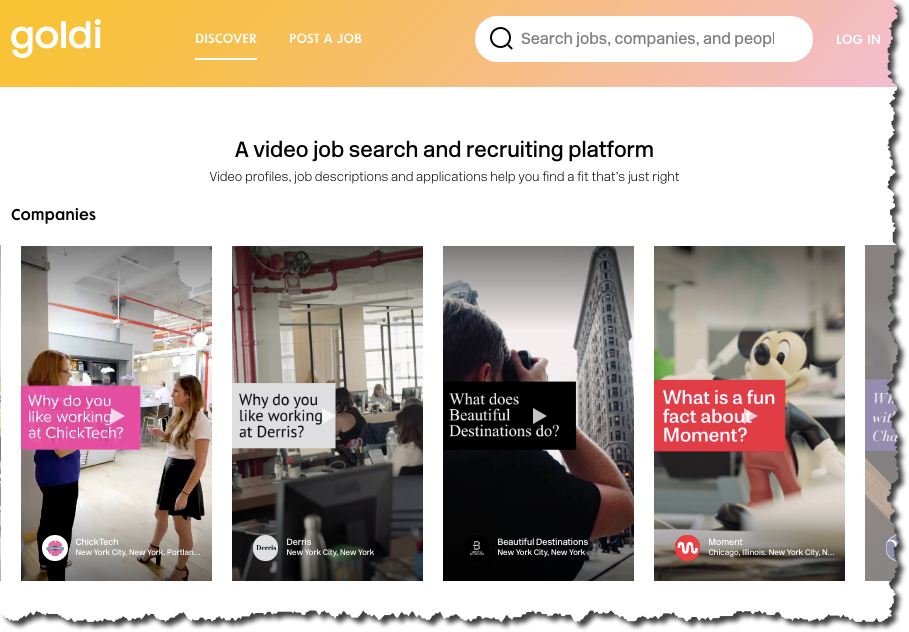 the video-only job board - job board consulting
