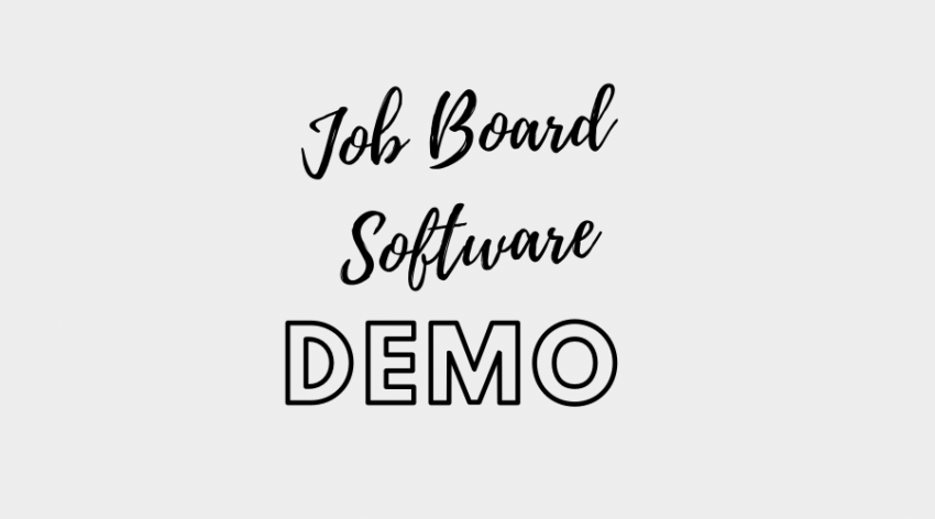 job board software demo