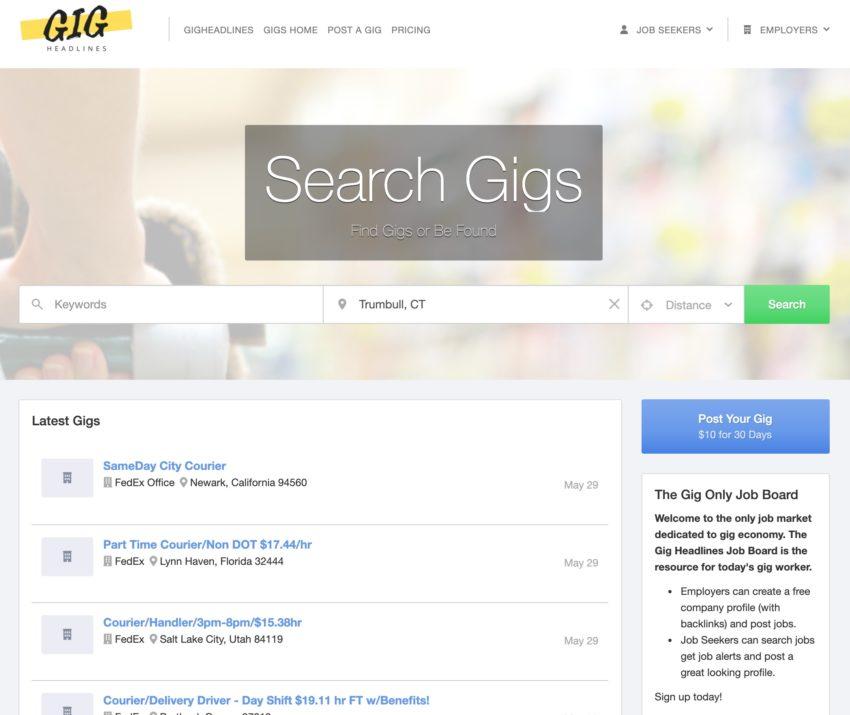 gig job search