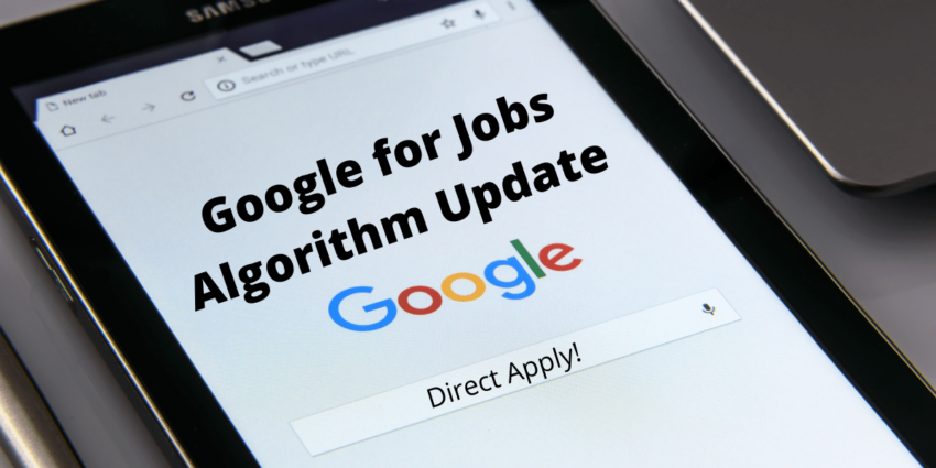 google for jobs changes