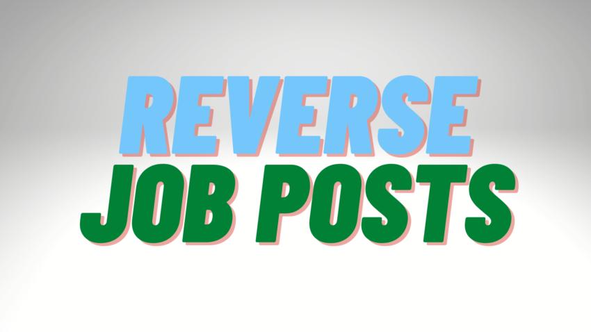 reverse job post